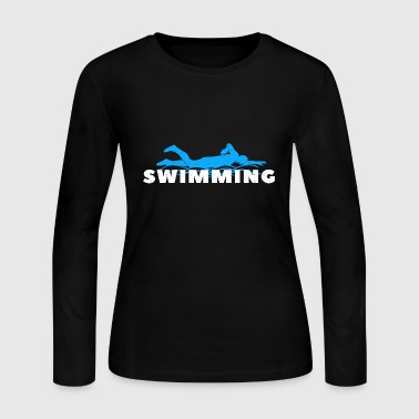 Funny Swimming Swimmer Swim Lifeguard Mermaid - Women's Long Sleeve Jersey T-Shirt