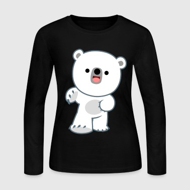 Cute Happy Polar Bear Cub by Cheerful Madness!! - Women's Long Sleeve Jersey T-Shirt