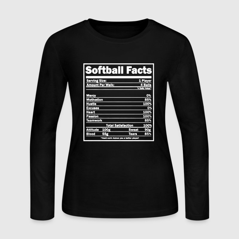 Softball Facts Shirt - Women's Long Sleeve Jersey T-Shirt