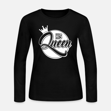 Valentines &amp His Queen - Her King-Couple Shirt-Gift-Valentines - Women's Jersey Longsleeve Shirt