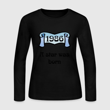 1986 - Women's Long Sleeve Jersey T-Shirt