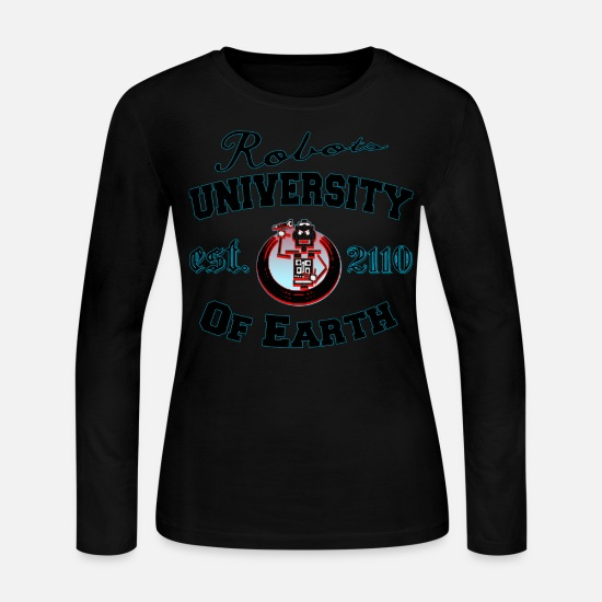 Humor Long sleeve shirts - University Of Earth - Women's Jersey Longsleeve Shirt black