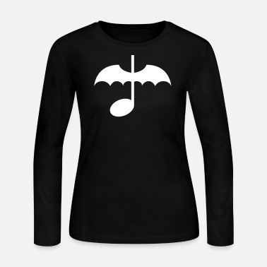 Bat Wings Music Note with Bat Wings - Women's Long Sleeve Jersey T-Shirt