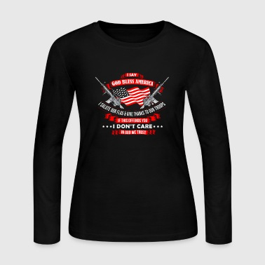 God Bless America God Bless America - Women's Long Sleeve Jersey T-Shirt