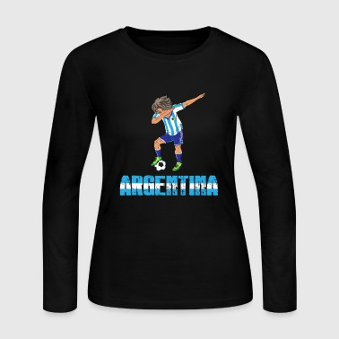 Argentina Argentina soccer player dab gift christmas - Women's Long Sleeve Jersey T-Shirt