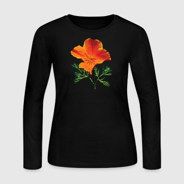 Orange California Poppy - Women's Long Sleeve Jersey T-Shirt