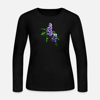 Lilac Spray of Lilacs - Women's Long Sleeve Jersey T-Shirt