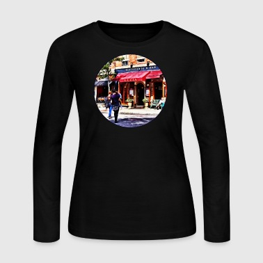 Boston MA - Hanover Street North End - Women's Long Sleeve Jersey T-Shirt