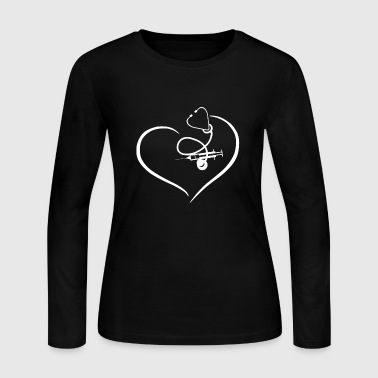 Nurse Heart Shirt - Women's Long Sleeve Jersey T-Shirt