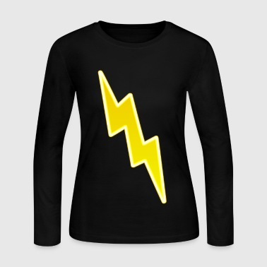 Lightning Bolt Zap - Yellow Lightning Bolt - Women's Long Sleeve Jersey T-Shirt