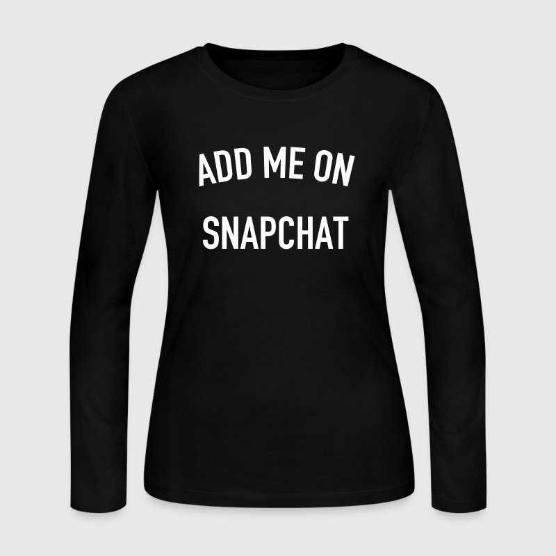 Add me on snapchat - Women's Long Sleeve Jersey T-Shirt