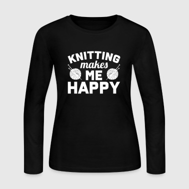 Knitting makes me happy - Women's Long Sleeve Jersey T-Shirt