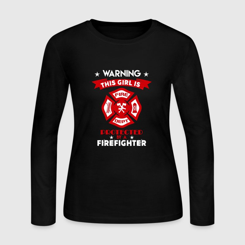 Protected By Firefighter - Women's Long Sleeve Jersey T-Shirt