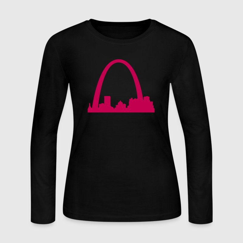 St.Louis Skyline - Women's Long Sleeve Jersey T-Shirt