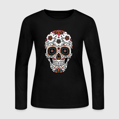 Sugar Skull - Day of the - Women's Long Sleeve Jersey T-Shirt