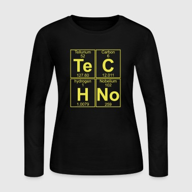 TECHNO PERIODIC TABLE - Women's Long Sleeve Jersey T-Shirt