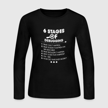 Stages of debugging - Women's Long Sleeve Jersey T-Shirt