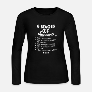 Stage Stages of debugging - Women's Long Sleeve Jersey T-Shirt