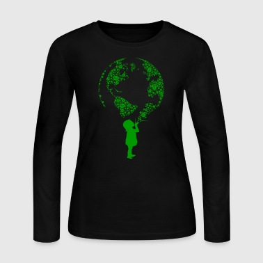 Earth Child (green) - Women's Long Sleeve Jersey T-Shirt