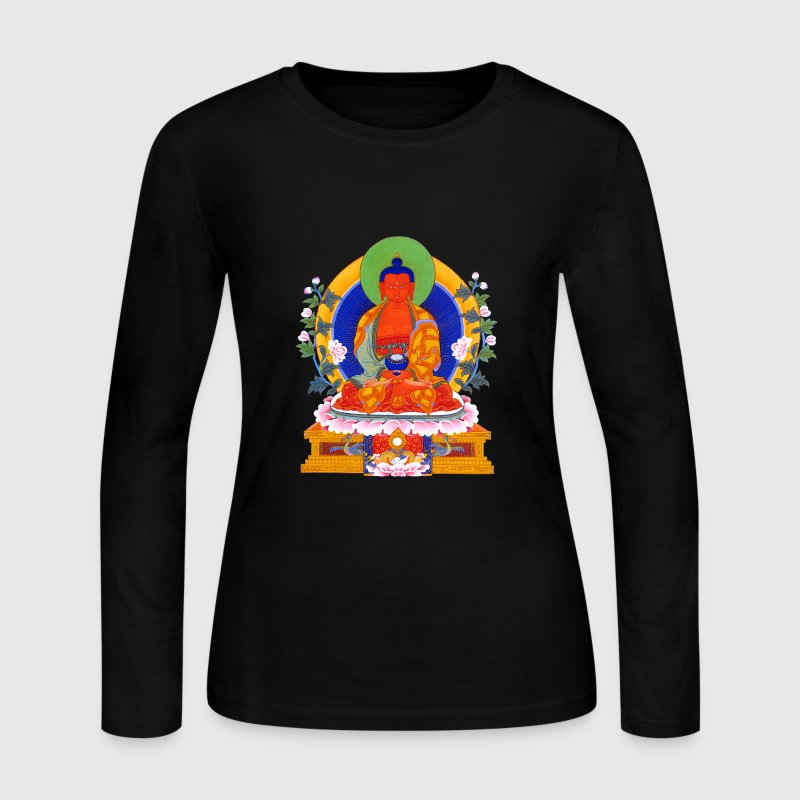 Buddha Amitabha - Women's Long Sleeve Jersey T-Shirt