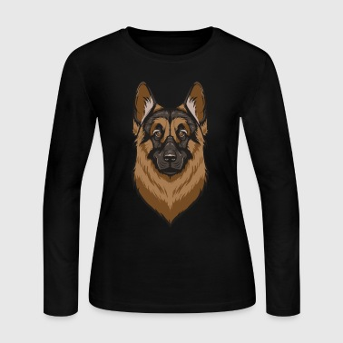 German Shepherd - Women's Long Sleeve Jersey T-Shirt