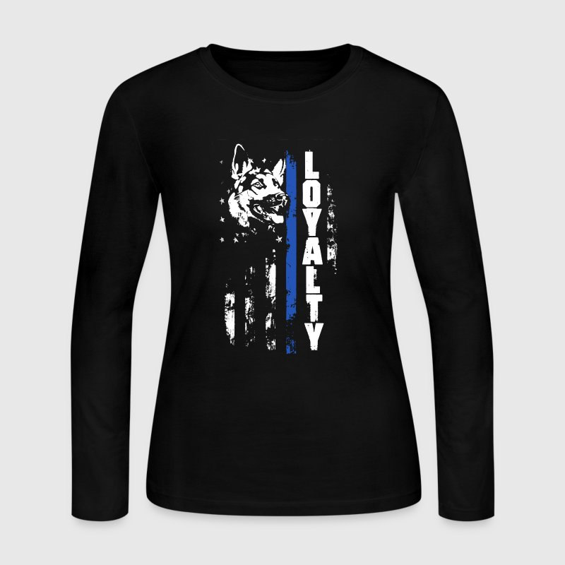 Thin Blue Line Loyalty - Women's Long Sleeve Jersey T-Shirt