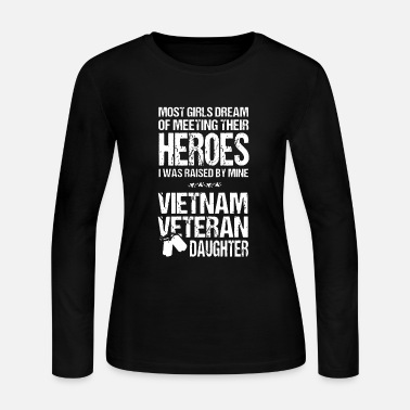 Hero Vietnam Veteran Daughter - Women's Long Sleeve Jersey T-Shirt