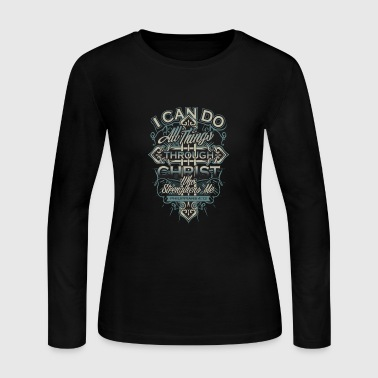 Christ - Christ - i can do all things through ch - Women's Long Sleeve Jersey T-Shirt