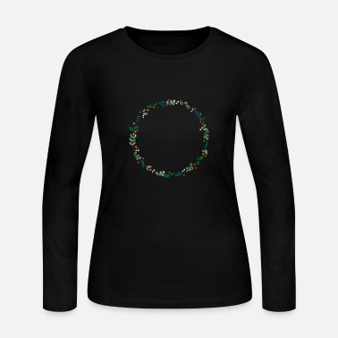 Evergreen An evergreen wreath - Women's Jersey Longsleeve Shirt