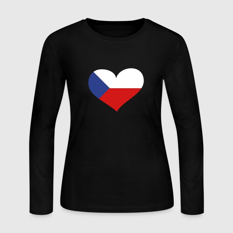 Czech Republic Heart; Love Czech Republic - Women's Long Sleeve Jersey T-Shirt