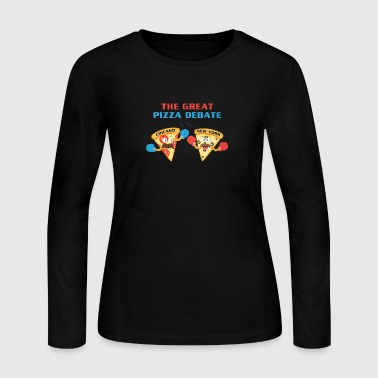 Pizza Debate - Women's Long Sleeve Jersey T-Shirt