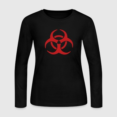 Biohazard Warning - Women's Long Sleeve Jersey T-Shirt