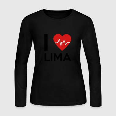 Lima I Love Lima - Women's Long Sleeve Jersey T-Shirt