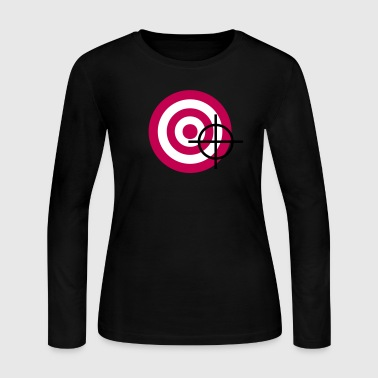 target with a targeting - Women's Long Sleeve Jersey T-Shirt