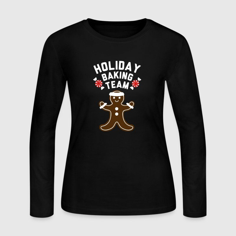 HOLIDAY BAKING TEAM - Women's Long Sleeve Jersey T-Shirt