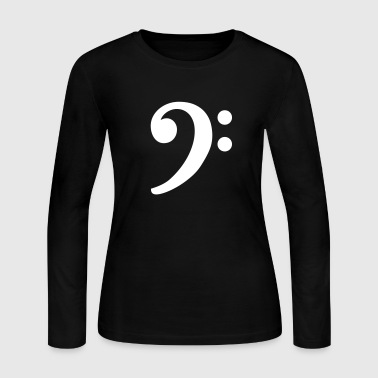 Bass Clef - Women's Long Sleeve Jersey T-Shirt