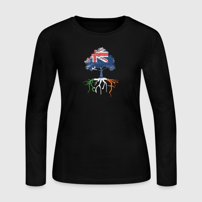 Australia Australian Irish Ireland Roots - Women's Long Sleeve Jersey T-Shirt