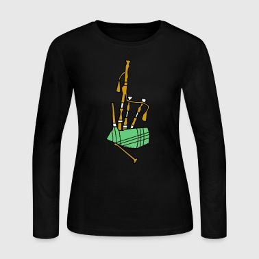 Bagpipes - Women's Long Sleeve Jersey T-Shirt