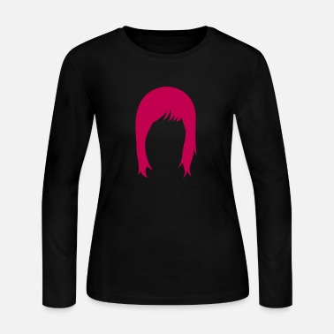 Hairstyle long hair hairstyle hairstyles  - Women's Long Sleeve Jersey T-Shirt