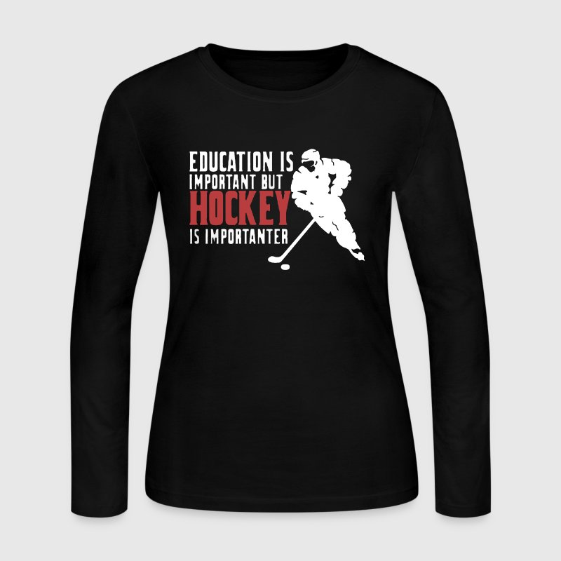 Hockey USA Shirt - Women's Long Sleeve Jersey T-Shirt