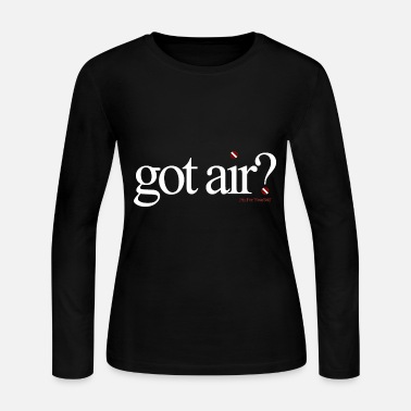 Long Got Air ? Long Sleeve - Black - Women's Long Sleeve Jersey T-Shirt