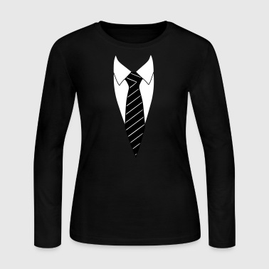 Suit / Necktie - Women's Long Sleeve Jersey T-Shirt