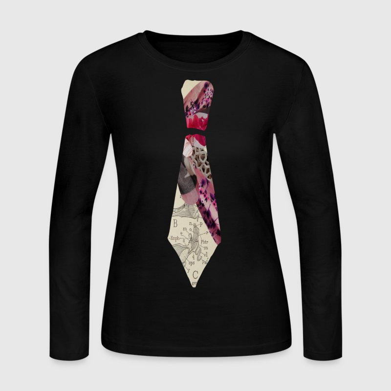 PINK NECKTIE - Women's Long Sleeve Jersey T-Shirt