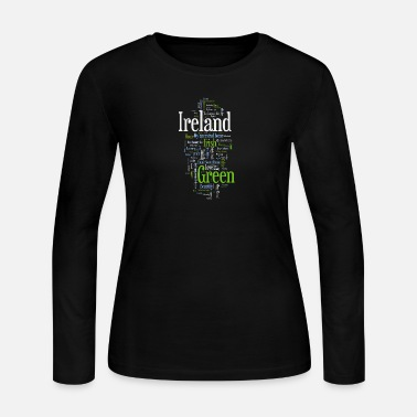Ireland Cool Ireland Irish Word Art Design - Women's Long Sleeve Jersey T-Shirt