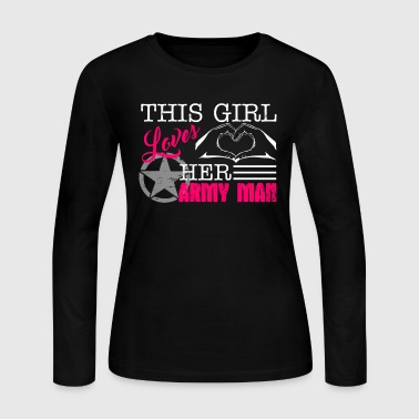 This Girl Loves Her Army Man - Women's Long Sleeve Jersey T-Shirt