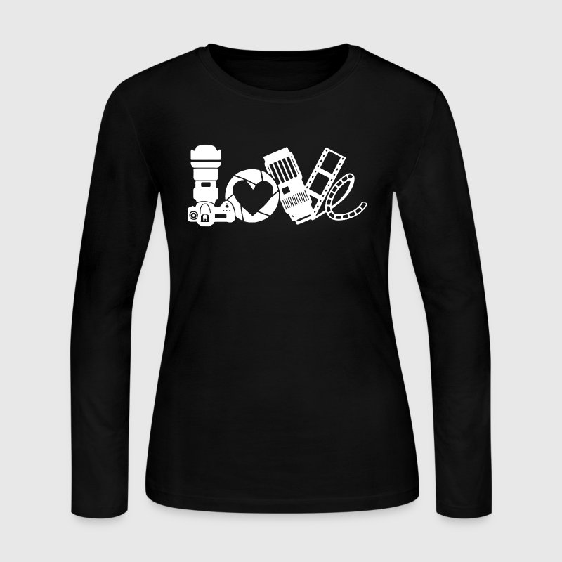 Photography Love Shirt - Women's Long Sleeve Jersey T-Shirt