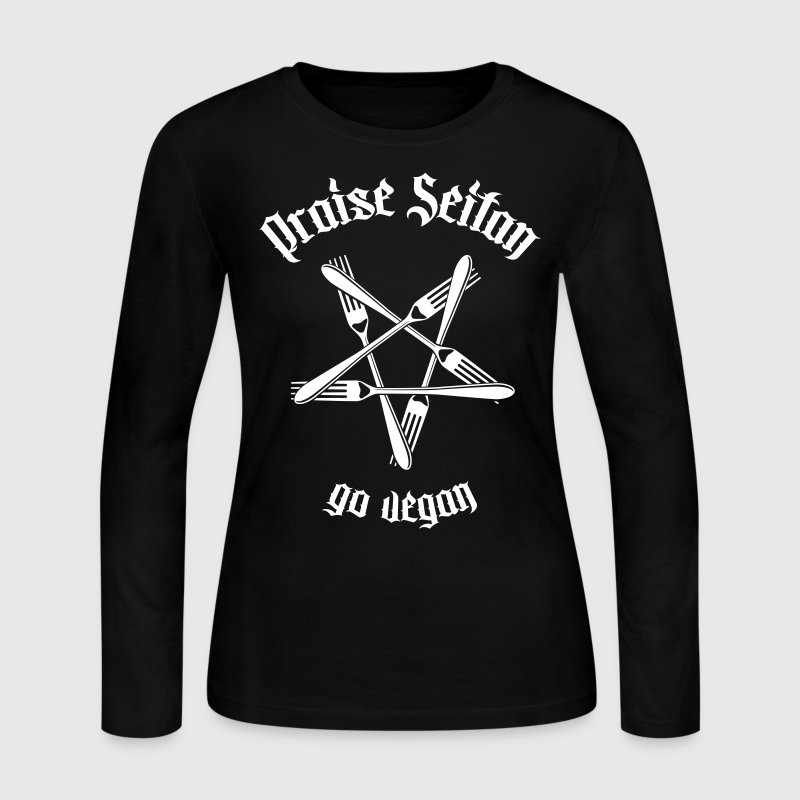 Praise Seitan - Go Vegan 1.1 - Women's Long Sleeve Jersey T-Shirt