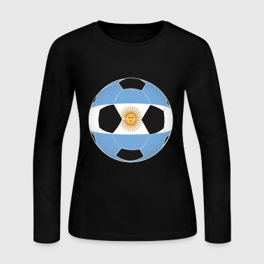 Argentina football soccer flag gift idea - Women's Long Sleeve Jersey T-Shirt