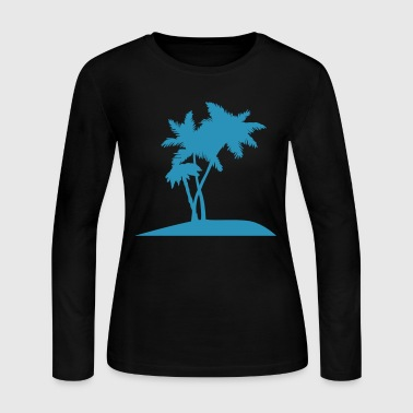 palm trees darr - Women's Long Sleeve Jersey T-Shirt