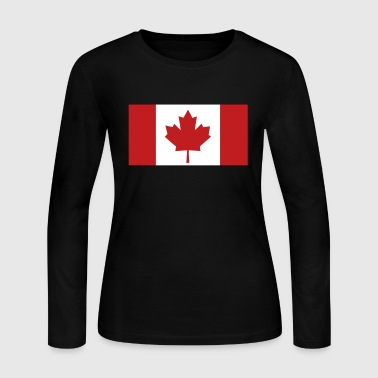 Flag - Canada - Women's Long Sleeve Jersey T-Shirt